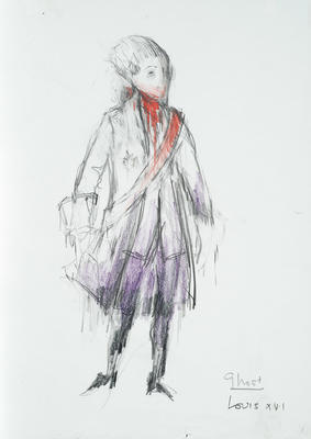 Costume design for Louis XVI in The Ghosts of Versailles