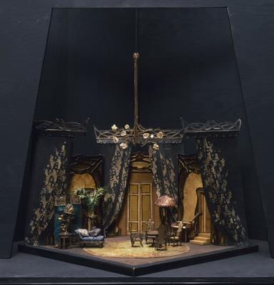 Maquette for Drawing Room of the Painter's House, Act I, scene 2, in Lulu