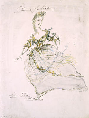 Costume design for Lisa as Chloe, Act II, scene 1, in The Queen of Spades