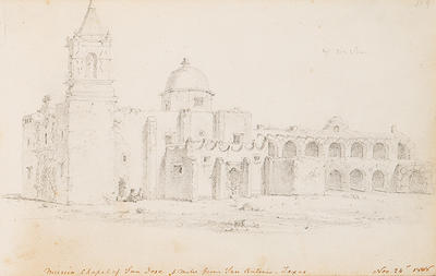 Mission Chapel of San Jose, 5 Miles from San Antonio, Texas, November 1848, from Sketchbook