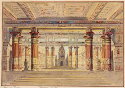 Scene design for Temple of Isis in Die Zauberflöte (The Magic Flute)