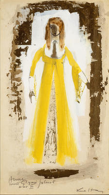 Costume design for Anne, Act III, in The King's Mare