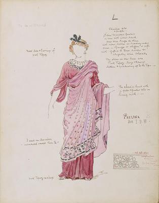 Costume design for Paulina in The Winter's Tale