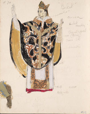 Costume design for Laurence Olivier as Becket in Becket; Motley Theatre Design Group; TL2002.182.1