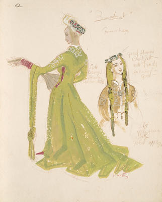 Costume design for a lady in Becket