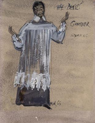 Costume design for Urban Grandier in The Devils; Motley Theatre Design Group; TL2002.183