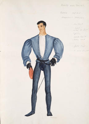 Costume design for Romeo in Romeo and Juliet