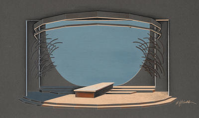 Scene design for the Arrival of the Gods in The Royal House of Atreus: Tantalus