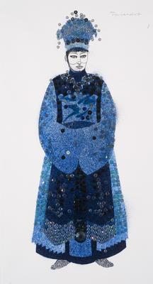 Costume design for Princess Turandot in Turandot