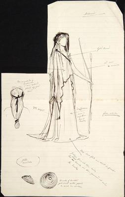 Costume design for Artemis; Charles Ricketts; British, 1866-1931; TL2002.225.7