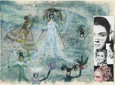 Costume design for Titania in A Midsummer Night's Dream; Otakar Schindler; Czech, 1923-1998; TL2002.229.1