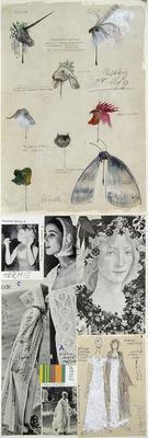 Design for masks and costume designs for Hermia in A Midsummer Night's Dream; Otakar Schindler; Czech, 1923-1998; TL2002.229.8