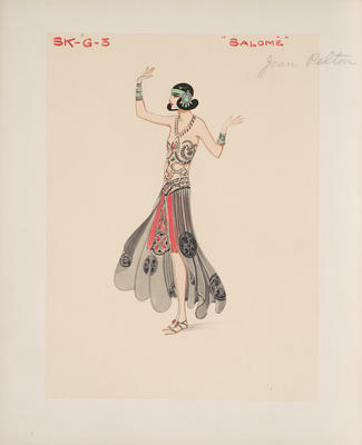 Costume design for Salomé in The Girl from Cook's; Irene Segalla; British, 1894-1982; TL2002.231.6