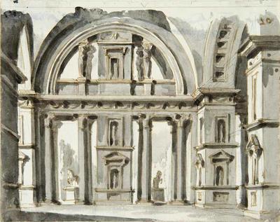 Design for an Architectural Interior; Gaspare Galliari; Italian, 1761-1823; TL2004.61.1