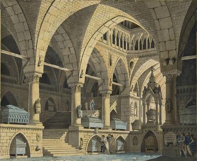 Scene design for a Prison; Gaspare Galliari; Italian, 1761-1823; TL2004.62.2
