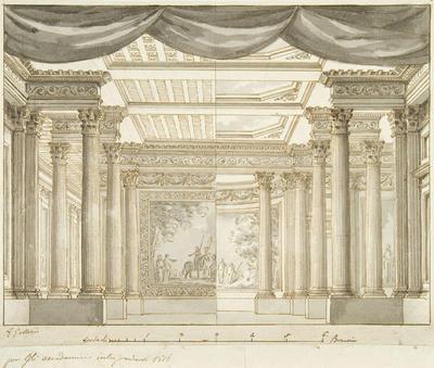 Scene design; Gaspare Galliari; Italian, 1761-1823; TL2004.63
