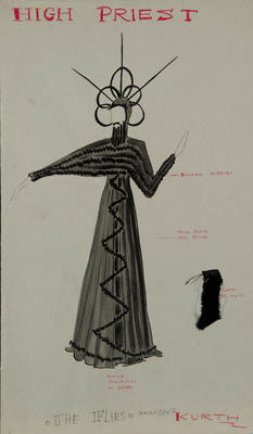 Costume design for High Priest in The Flies