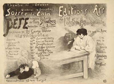 Program for Père (The Father), produced by Le Théâtre de l'Oeuvre