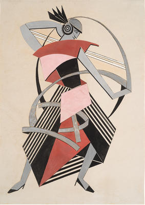 Costume design for La Dama Duende (The Phantom Lady); Alexandra Exter; French, born Russia (now Poland), 1882-1949; TL2005.96