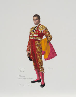 Costume design for a male character in Carmen