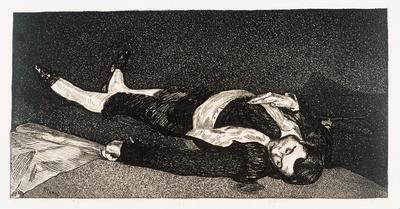 Le Torero Mort (Dead Toreador); Édouard Manet; French, 1832-1883; 1966.2