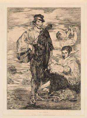 Les Gitanos; Édouard Manet; French, 1832-1883; 1966.3