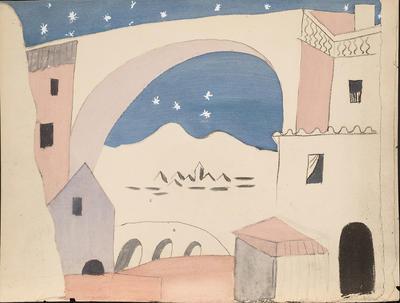 Trente-deux reproductions de maquettes en couleurs d'après les originaux des costumes & décor par Picasso pour le ballet Le Tricorne; Pablo Picasso; Spanish, 1881-1973; TL1984.1.714