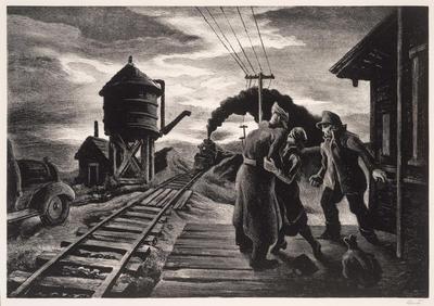 Morning Train (Soldier's Farewell); Thomas Hart Benton; American, 1889-1975; 1969.11