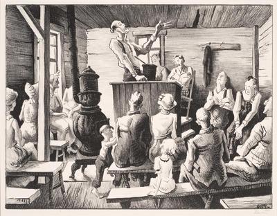 The Meeting; Thomas Hart Benton; American, 1889-1975; 1969.13