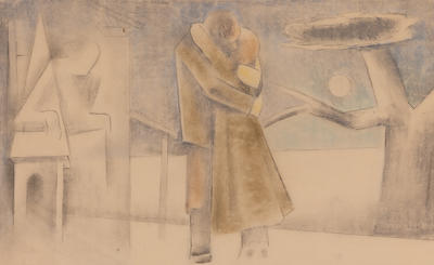 Mural design - Ethan Frome; Kenneth Miller Adams; American, 1897-1966; 1950.181