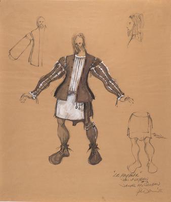 Costume design for James McCracken as John of Leyden in Le Prophète; Peter Wexler; American, born 1936; TL2008.14.5