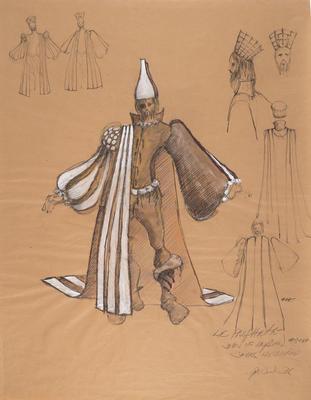 Costume design for John McCracken as John of Leyden in Le Prophète; Peter Wexler; American, born 1936; TL2008.14.6
