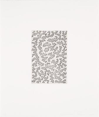 Etching after Untitled Yellow-Black; James Siena; American, born 1957; 2014.101.6