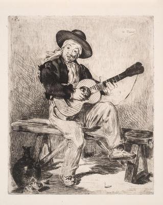 Le Guitarrero (The Spanish Singer); Édouard Manet; French, 1832-1883; 1971.2
