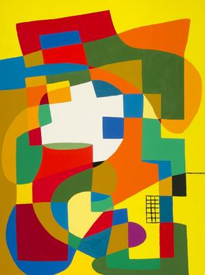 Artist: Harriet Korman, American, born 1947