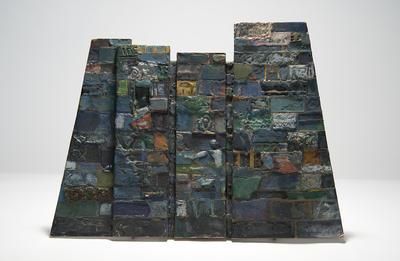 Maquette piece for Pyramid in The First Born; Boris Aronson; American, born Russia (now Ukraine), 1898-1980; TL2010.6