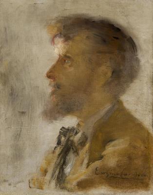 Portrait of Alphonse Daudet; Eugène Carrière; French, 1849-1906; 2011.313