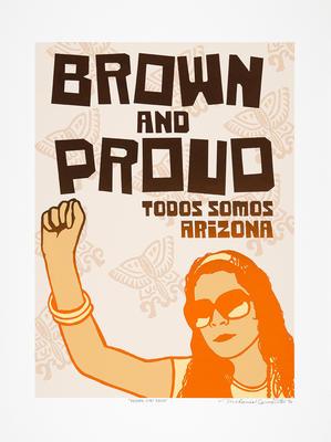 Brown and Proud; Melanie Cervantes; American, born 1977; 2011.305