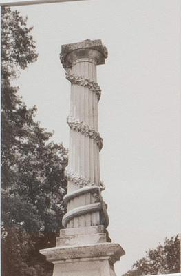 Classical Column from Walk #1; Ernesto Pujol; American, born Cuba, 1957; 2012.4.3