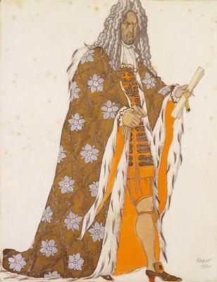 Costume design for Catalabutte, Master of Ceremonies, in La Belle au Bois Dormant (The Sleeping Princess)