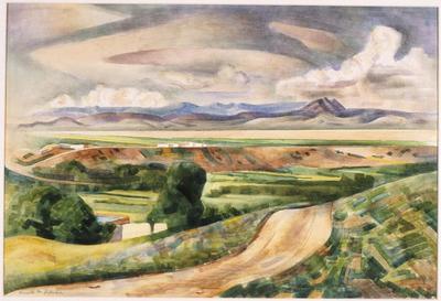 Western Landscape; Kenneth Miller Adams; American, 1897-1966; 1950.2