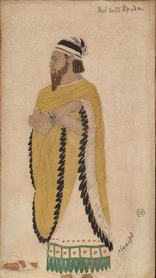 Costume design for Hérode, first guest, in Salomé