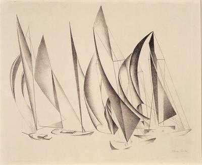 Yachts; Charles Sheeler; American, 1883-1965; 1972.8