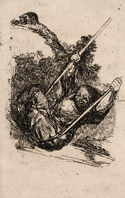 Witch on a Swing from Late Caprichos of Goya: Fragments from a Series