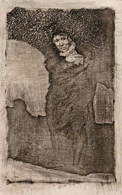 Andalusian Smuggler from Late Caprichos of Goya: Fragments from a Series