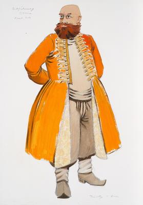 Costume design for Osmin in Die Entführung aus dem Serail (The Abduction from the Seraglio)