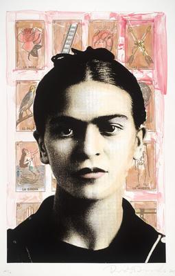 Frida with Loteria