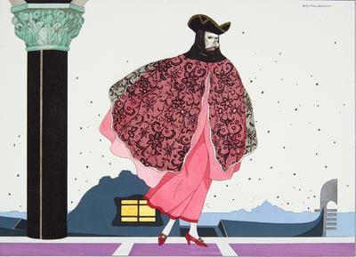 Florindo from Les Masques et Les Personnages de la Comédie Italienne; Gérard d'Houville; French, 1875-1963; Umberto Brunelleschi; Italian, 1879-1949; TL1984.1.1006.5