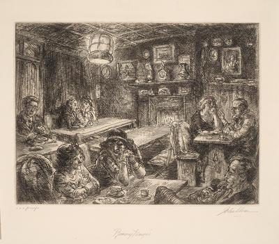 Romany Marye's in Christopher Street; John Sloan; American, 1871-1951; 2014.7