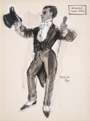 Costume design for Minns and James's Cakewalk; Lewis Brown; American, 1928-2011; 2014.60